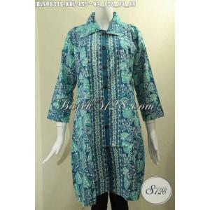 Harga baju batik wanita gemuk motif bagus model krah modis size xxl | HARGALOKA.COM