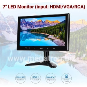 Harga mini led monitor 7 inch input hdmi vga rca   built in | HARGALOKA.COM