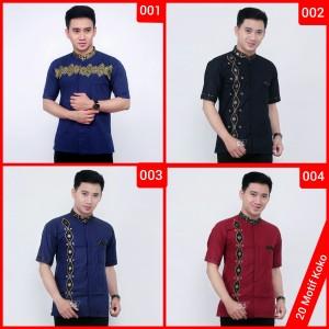 Harga kemeja batik baju koko batik pria kombinasi prada bordir premium   motif | HARGALOKA.COM