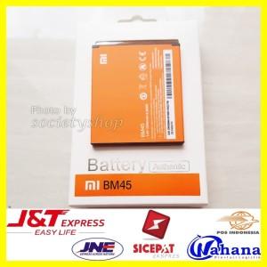 Harga baterai xiaomi redmi note 2 batre bm45 xiomi hp batray batere | HARGALOKA.COM