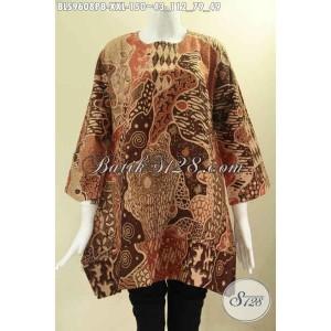 Harga batik atasan motif elegan size xxl model a buat wanita gemuk | HARGALOKA.COM