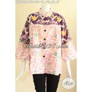 Harga blouse batik jumbo wanita gemuk kerah shanghai modis size xxl | HARGALOKA.COM