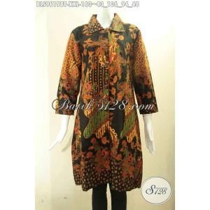 Harga blouse batik wanita gemuk model krah kancing depan size xxl | HARGALOKA.COM