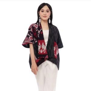 Harga baju wanita blouse blazer etnik bahan tenun kode | HARGALOKA.COM