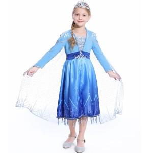 Harga kostum anak frozen 2 murah baju cosplay elsa frozen ii hadiah anak     HARGALOKA.COM
