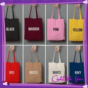 Harga tote bag kanvas warna tas kanvas hits tas wanita murah tas impor   | HARGALOKA.COM