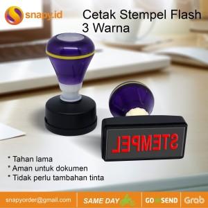 Harga cetak stempel flash stample flash 3 warna   satu | HARGALOKA.COM