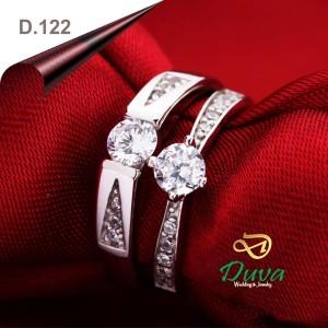 Harga cincin kawin nikah tunangan couple emas putih 75 dan perak d | HARGALOKA.COM