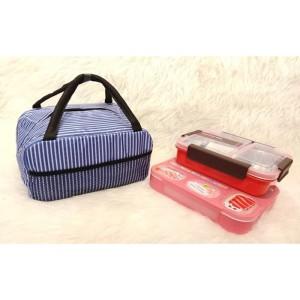 Harga tas bekal makanan lunch box alumunium foil m105 a garis | HARGALOKA.COM