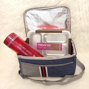 Harga tas bekal makanan lunch box alumunium foil a3105 | HARGALOKA.COM