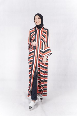 Harga stripes republic dress   markamarie baju muslim modest | HARGALOKA.COM