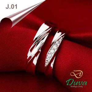 Harga cincin kawin nikah tunangan couple emas 25 dan perak j | HARGALOKA.COM