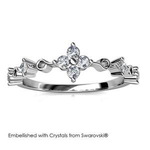 Harga vayne ring   cincin crystal swarovski by her jewellery   white gold | HARGALOKA.COM