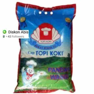 Harga beras topi koki pandan wangi 5 kg kirim via gosend   HARGALOKA.COM
