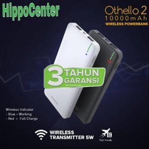 Harga hippo power bank othello 2 10000mah wireless charging powerbank hippo   | HARGALOKA.COM