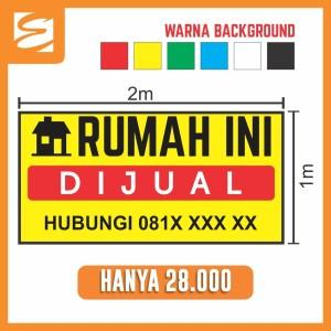 Harga spanduk rumah ini dijual 2 x 1 meter | HARGALOKA.COM