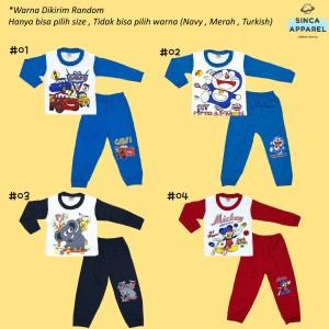 Harga setelan baju piyama anak bayi baju tidur lengan panjang warna    HARGALOKA.COM