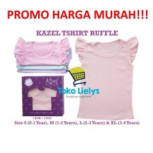 Harga kazel ruffle shirt kaos baju anak bayi perempuan cewek pastel edition   uk   HARGALOKA.COM