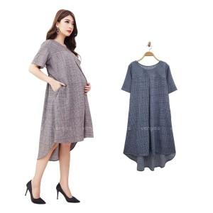 Harga dress hamil menyusui crepe   | HARGALOKA.COM