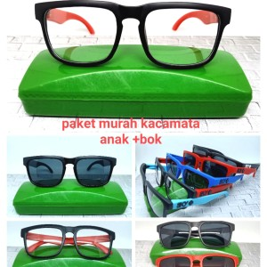 Harga kacamata sunglasses anak sky model hq 253 lensa hitam sama bening   | HARGALOKA.COM