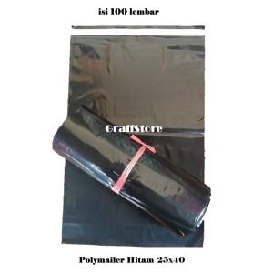 Harga plastik packing online shop polymailer 25x40 warna hitam | HARGALOKA.COM