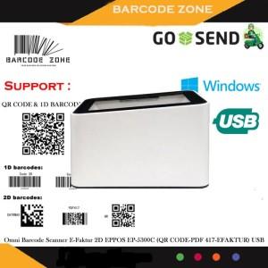 Harga 2d omni barcode scanner eppos ep 5300c   putih qr code efaktur | HARGALOKA.COM