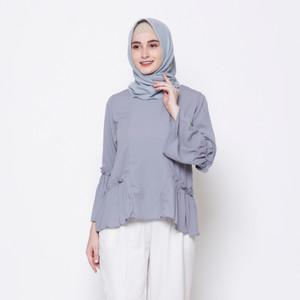 Harga kyoya devishi unique blouse   light grey all | HARGALOKA.COM