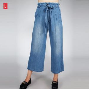 Harga celana kulot jeans eowyn light blue cullote 43025l3ll   logo jeans   | HARGALOKA.COM