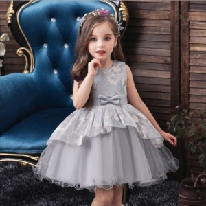 Harga baju gaun pesta anak import premium dress party ribbon 2 layer | HARGALOKA.COM