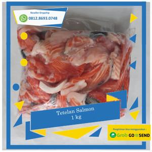 Harga promo tetelan salmon 1 kg daging salmon segar salmon segar | HARGALOKA.COM