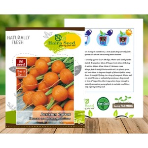 Harga benih bibit wortel parisian carrot haira seed | HARGALOKA.COM