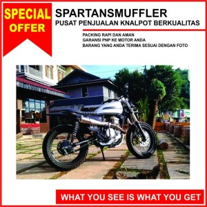Harga knalpot scrambler spartans untuk motor tiger dan | HARGALOKA.COM