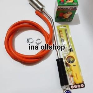 Harga 1 set kompor tikus korek ikatan selang regulator puter winn | HARGALOKA.COM