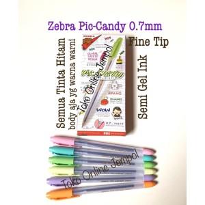 Harga 0 7 pulpen piccandy zebra semi gel ink pen piccolo pen 0 7 atk0891zb   tinta | HARGALOKA.COM