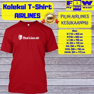 Harga baju kaos t shirt penerbangan maskapai thai lion air   putih | HARGALOKA.COM