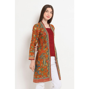Harga aling 3negeri t0513 baju atasan kerja blouse batik wanita modern nona   | HARGALOKA.COM