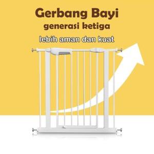 Harga new version 3   baby safety gate pagar pengaman bayi gate 7 10 20 cm   gate | HARGALOKA.COM