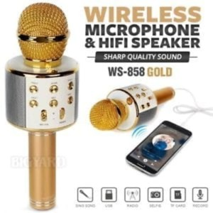 Harga speaker mic bluetooth mike karoke wireless smule ktv online karaoke | HARGALOKA.COM