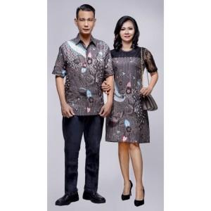Harga nagita abu dress batik wanita kombinasi broklat   abu abu | HARGALOKA.COM