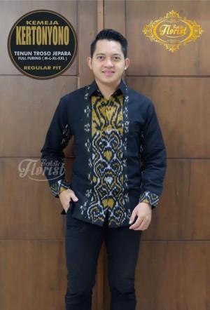Harga kertonyono tenun kemeja batik solo panjang full furing by florist   | HARGALOKA.COM