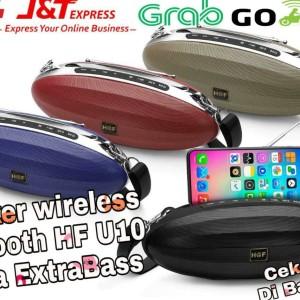Harga speaker bluetooth portable hf u10 bonus tali gantung radio best | HARGALOKA.COM