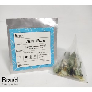 Harga bluegrass butterfly pea lemongrass pandan tea bag 1tb teh | HARGALOKA.COM