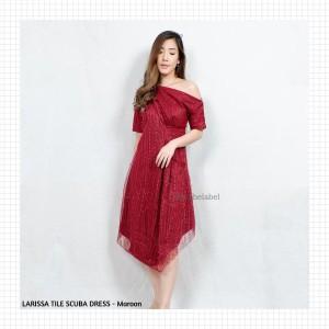 Harga larissa tile scuba dress   jothelabel   | HARGALOKA.COM