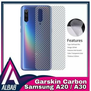 Harga garskin carbon samsung a20 a30 back screen protector   HARGALOKA.COM