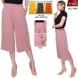 Harga red one celana kulot pendek prisket rose stretch wanita 3115   merah | HARGALOKA.COM