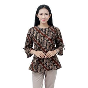Harga batik wanita blouse batik wanita atasan jumbo s m l xl xxl 3l 4l 5l   model a | HARGALOKA.COM