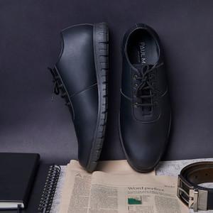 Harga paulmay sepatu sneakers pria modena 28   hitam   HARGALOKA.COM