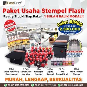 Harga paket jumbo mesin stempel flash 3 lampu premium | HARGALOKA.COM