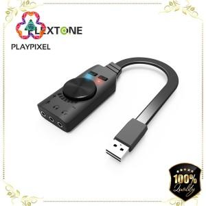 Harga sound card usb adapter 7 1 plextone gs3 komputer laptop mac | HARGALOKA.COM