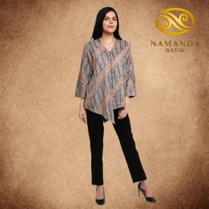 Harga blouse batik parang pastel peach abu | HARGALOKA.COM